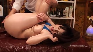 Bikini-clad Asian tart oiled and screwed off out of one's mind a skilled lover
