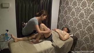 Fukiishi Rena is an Asian masseuse who loves getting fucked