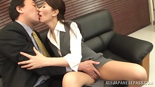 Small bosom Japanese wife gives a blowjob and gets fucked. HD