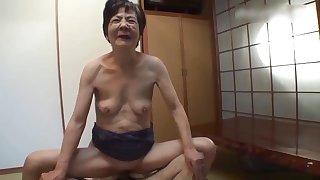 Nippon prurient granny amateurish video