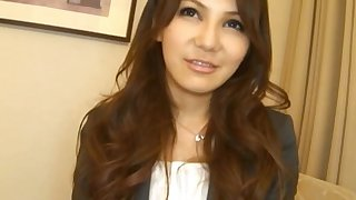 Pretty Japanese chick Mihono Tsukimoto gets fucked hard from with little