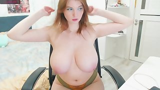Arrogantly Russian breast - cute Caucasian girl with big sincere breast on webcam