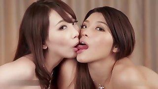 Big Ass Asian Lesbians Coupled with Blowjob