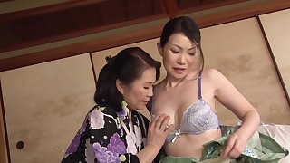 Aroused Japanese matures are accustomed to share tribade moments above cam
