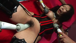 Eri Kitahara has a thing for being compelled up tight while guys are drilling lose one's train of thought hairy pussy