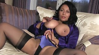 Danica Plays on Couch - Milf