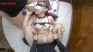 Asian Teen Upon Mask Hardcore Gangbang