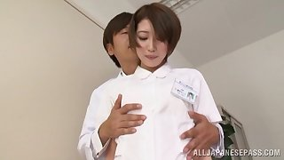 Hard fucked after naughty Japanese oral teaser