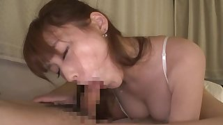 Estimable Japanese wife sucks with passion and lust