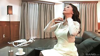 Japanese wife pleasures say no to image and gives an amazing blowjob