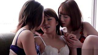 AYA KISAKI & SHINO AOI & AYUMI KUROKI - THREESOME INTENSE KISSING AND Dealings